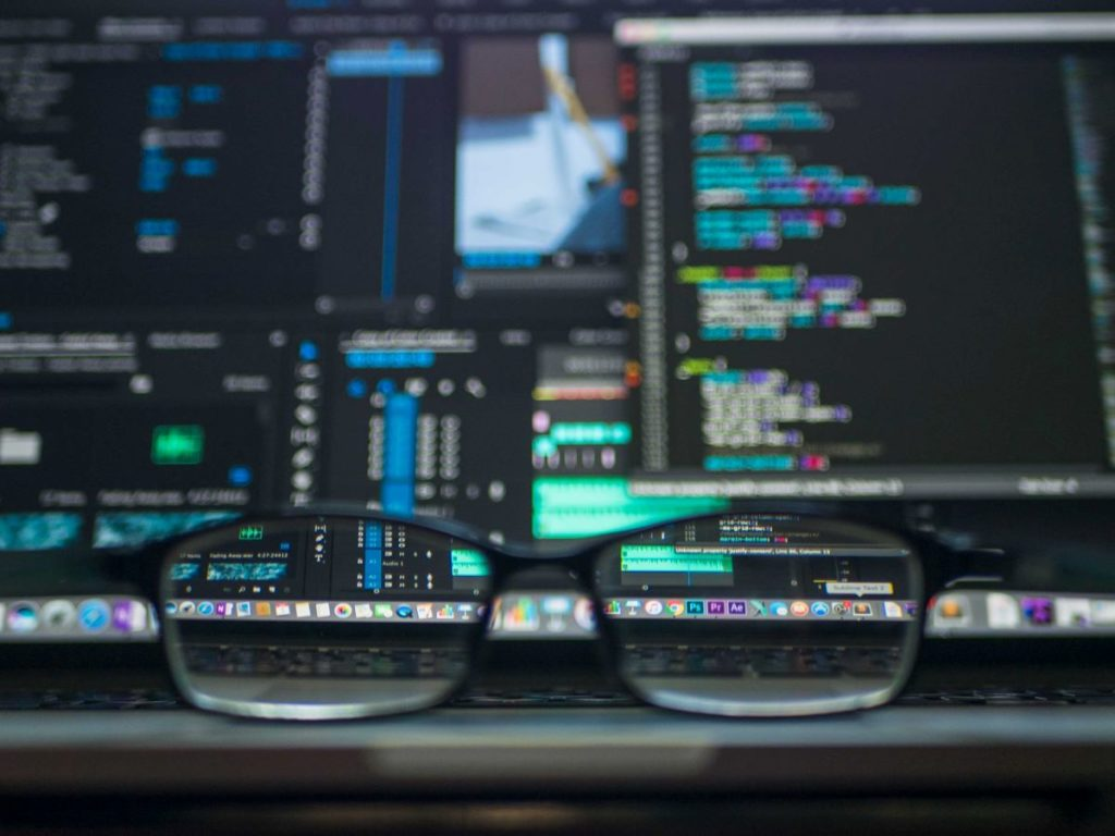 glasses and computer code